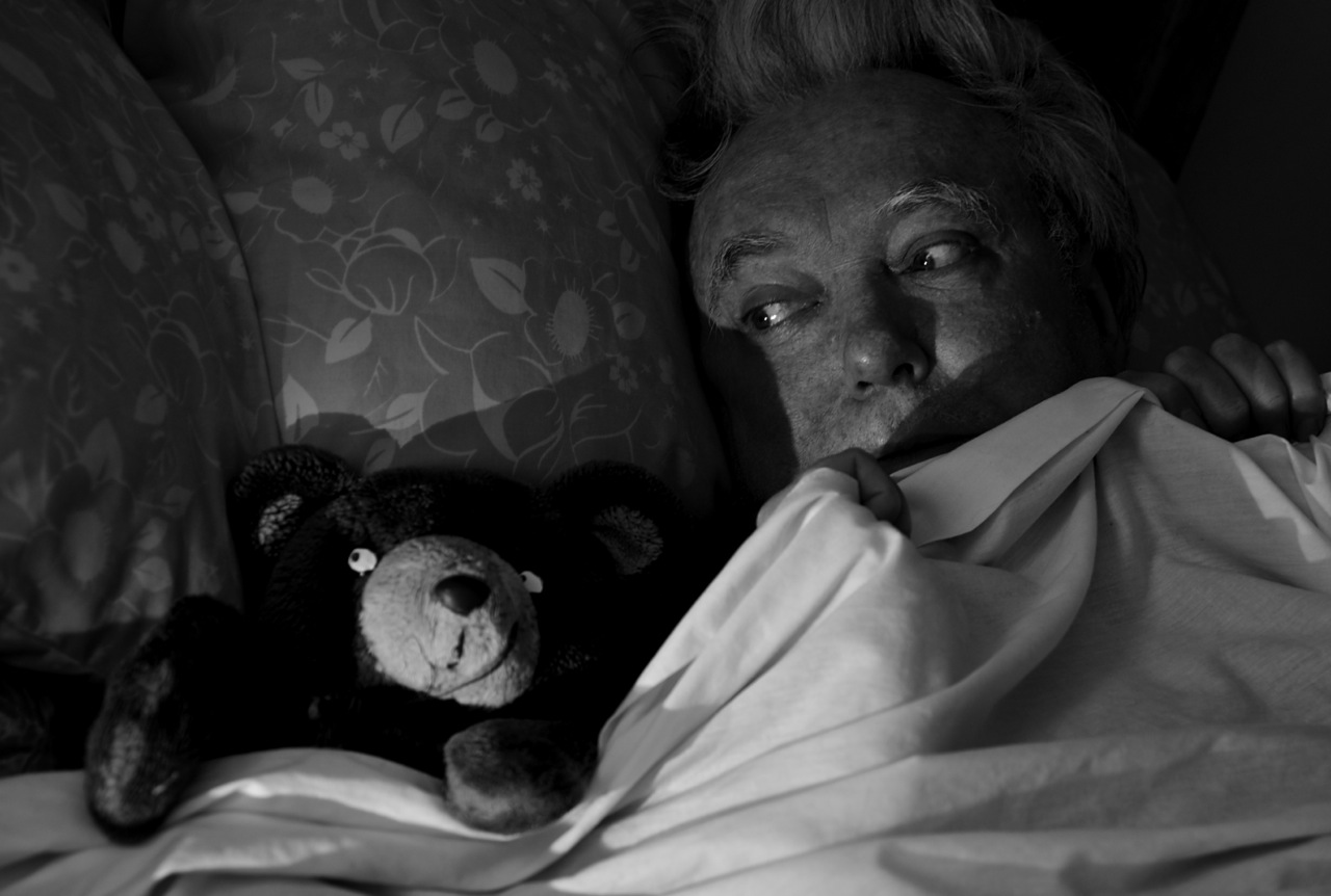 Billy Jenkins and teddy bear Bot photographed by Beowulf Mayfield